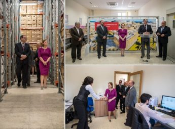 Gozo Minister visits MaltaPost's Document Management Centre