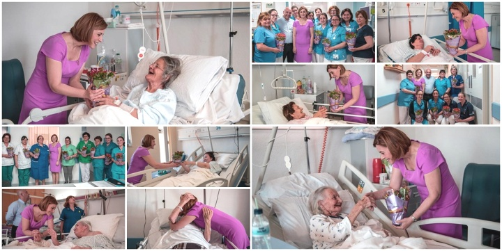 Gozo Ministers pays Mother's Day visit to patients and staff at GGH