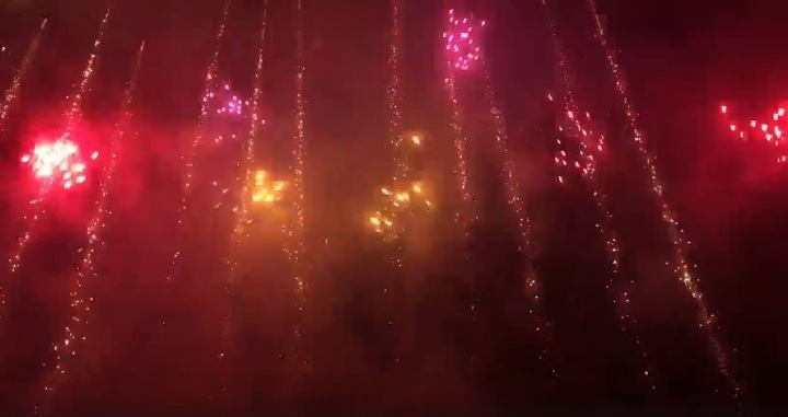 Munxar fireworks - Perfect synchronisation of music and fireworks