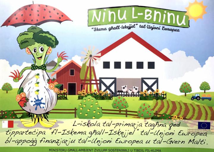 Kaden Mario Roche of Gozo designs winning poster for new school scheme