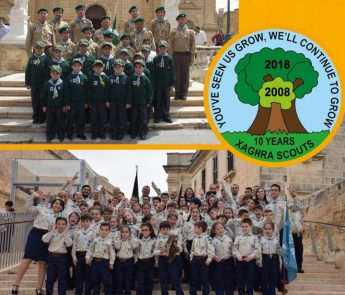 Xaghra Scout Group celebrating a decade of scouting in Gozo
