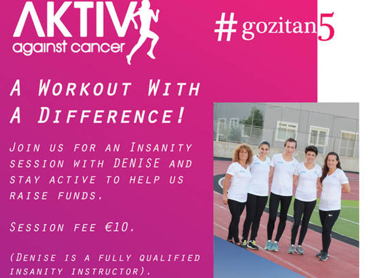 Aktive Against Cancer - Insanity session at the Villa Rundle Gardens