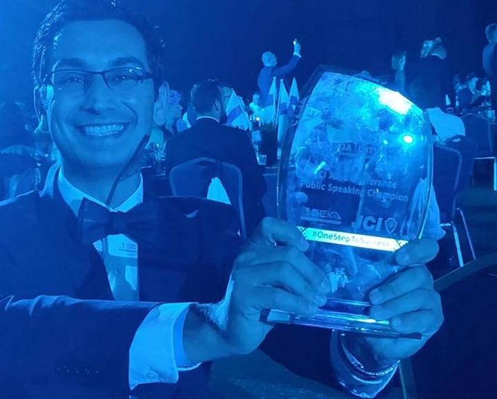 Gozitan Dr Anthony Galea wins European Public Speaking Competition