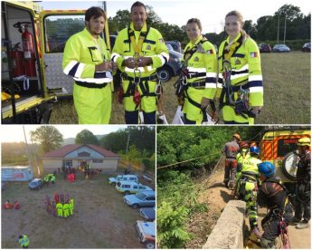 ERRC team of volunteers participate in EVOLSAR exercise