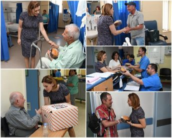 Father's Day visit to the elderly and sick at Gozo General Hospital