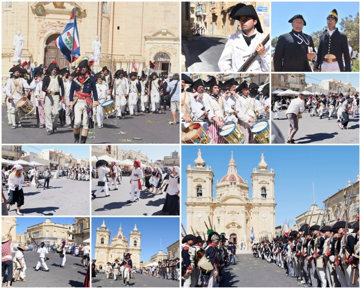 The battle commences - French army lands on Gozo to take the Citadel