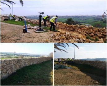 Ggantija Temples undergoes maintenance and landscaping work