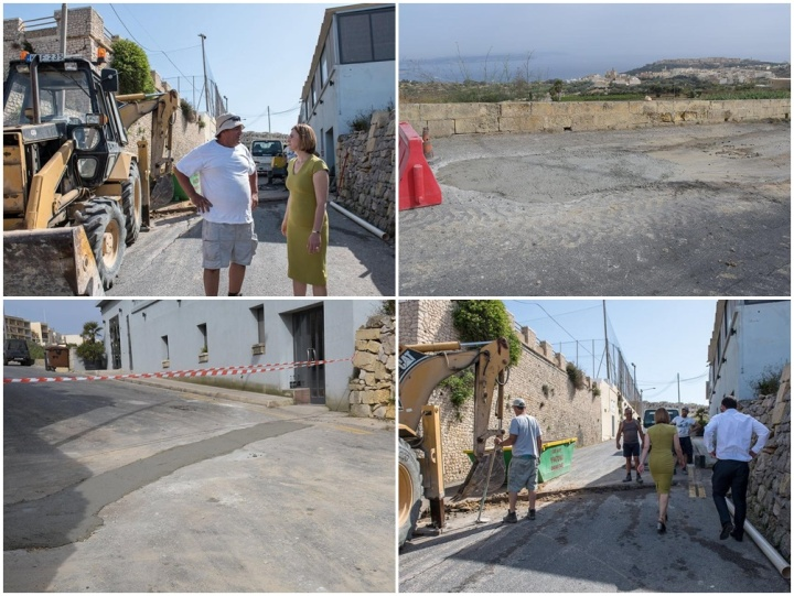 Emergency works carried out in Mgarr Road, Nadur