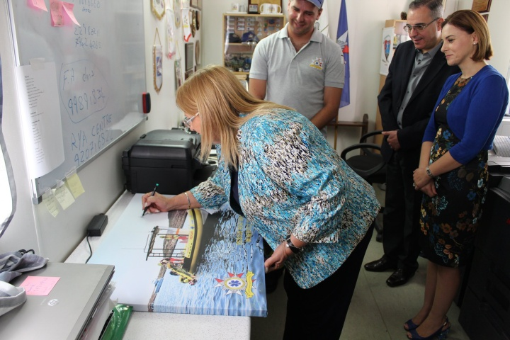 The President pays a visit to ERRC's headquarters in Xewkija, Gozo