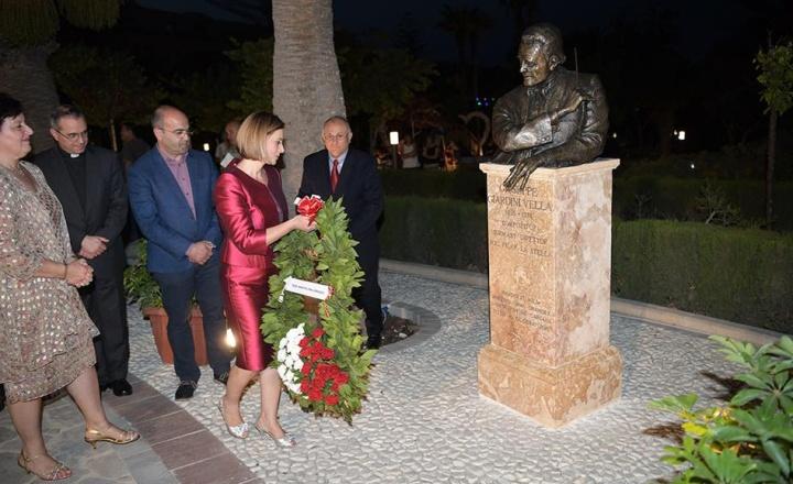 Gozo monument to commemorate Mro.Giuseppi Giardini Vella