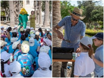 World Day for the Environment - tree seedlings given to children in Gozo