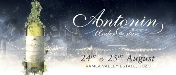Antonin Under The Stars next weekend at the Ramla wine estate