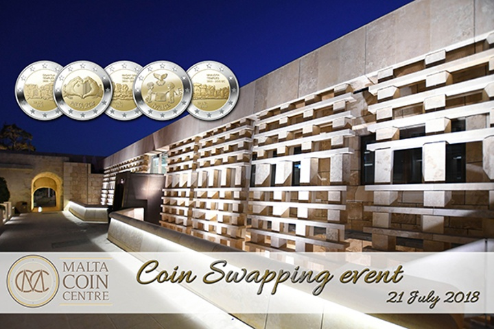 Coin swapping event this Saturday at the Central Bank of Malta