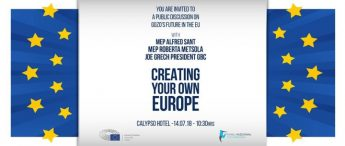 Creating Your Europe - Public discussion on future of Gozo in the EU