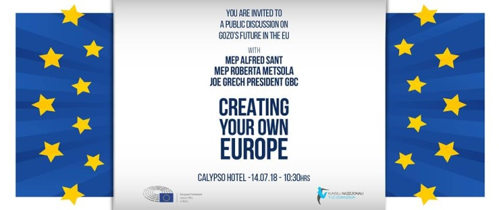 Creating Your Own Europe - Public discussion on future of Gozo in the EU