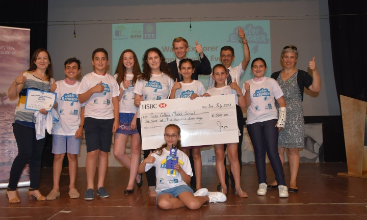 Gozo College Middle School team wins Water Explorer National Event