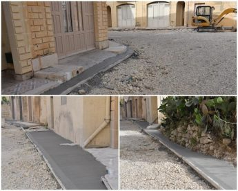 Work now continuing in Ghajn Qatet Street, Victoria