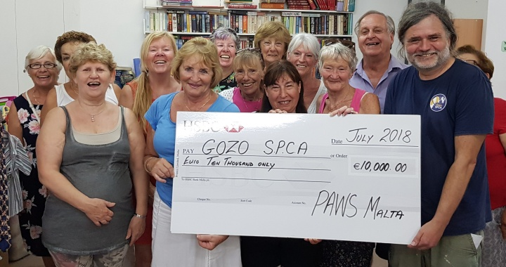 €10,000 donation by PAWS Malta helps Gozo SPCA neutering programme