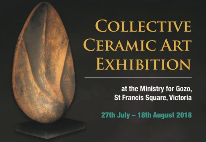 Collective ceramic art exhibition at the Ministry for Gozo Hall