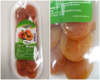 Health Directorate warning not to eat Mafimex Dried Apricots