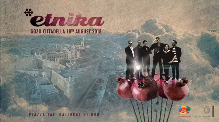 Etnika live in concert at the Gozo Citadel this month