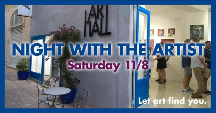Meet the artist Tomas Hed at ArtHall open evening this Saturday