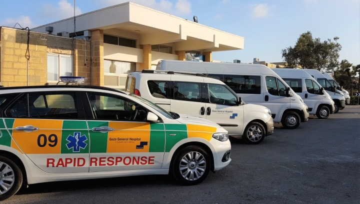 Gozo Hospital gets new transport fleet including rapid response vehicle
