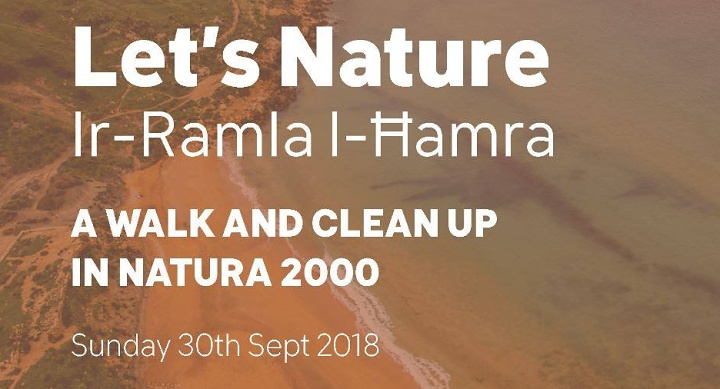 Ramla Bay guided walk and clean-up with Friends of the Earth Malta