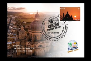 Xewkija Rotunda features on latest MaltaPost Occasion Card