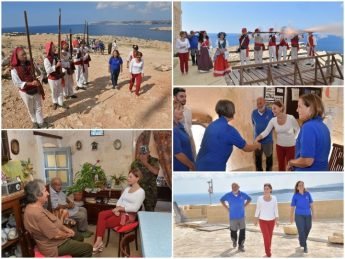 Gozo Minister visits Comino on 400th anniversary of Comino Tower