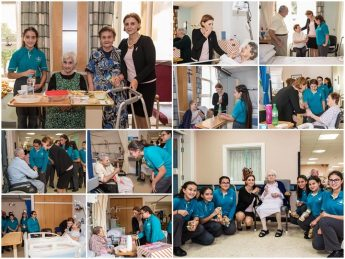 Gozo Minister and Bishop's Conservatory students visit the elderly