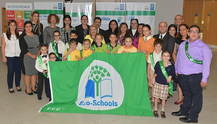 Three Gozo schools awarded the international Green Flag Award