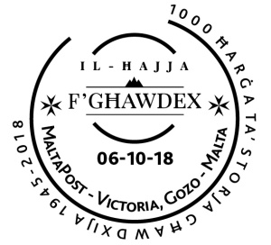 1000th issue of the Magazine Il-Hajja f'Ghawdex - Hand stamp