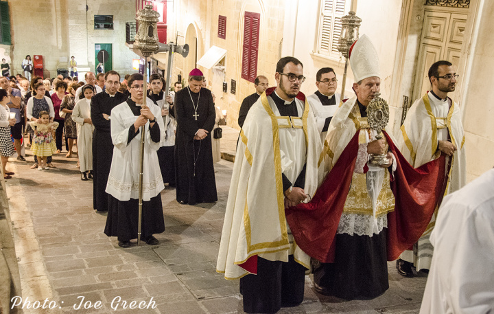 Gozo Cathedral celebrates the feast of our Lady of the Holy Rosary