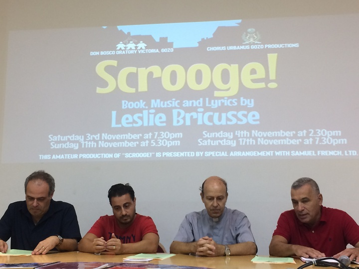Scrooge! Live on stage next month at the Don Bosco Oratory, Gozo