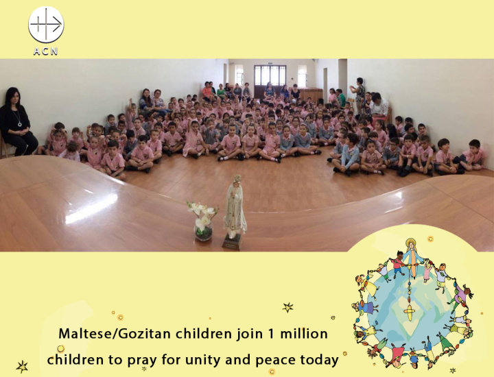Gozitan children join one million others to pray for unity and peace