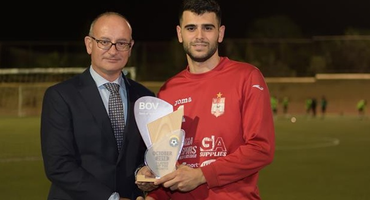 Adrian Parnis of Victoria Hotspurs is GFA Player of the Month