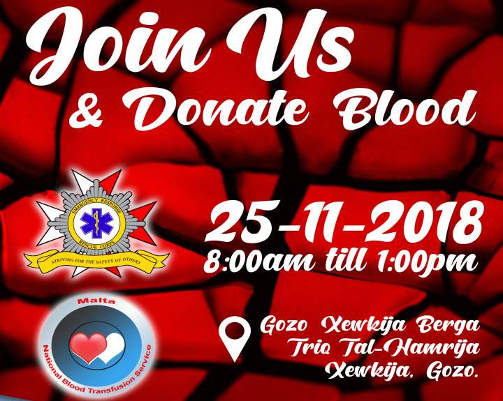Join the ERRC in Gozo on Sunday and help others by donating blood