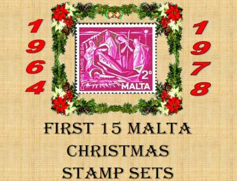 Christmas First Day Covers on display at Il-Hagar, Gozo