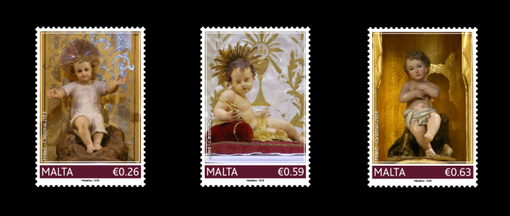 Christmas stamp issue to feature three figurines of the Baby Jesus