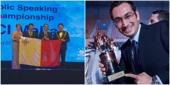 Gozitan Dr Anthony Galea wins World Public Speaking Championship