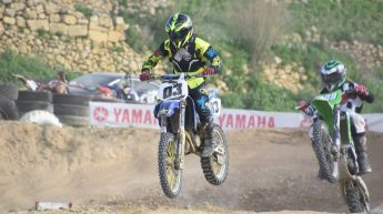 Motocross riders battle for points in the Gozo Motocross Championship