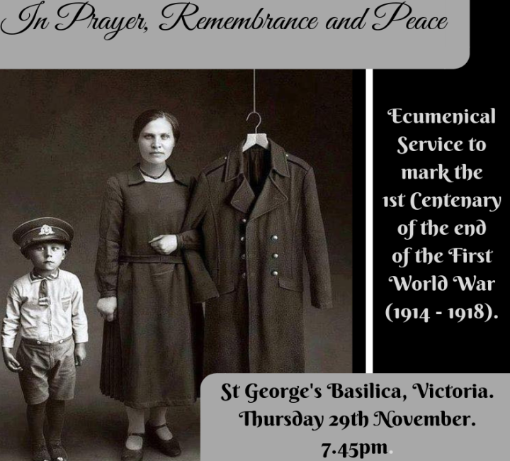 Ecumenical Service to mark 100 years since end of First World War