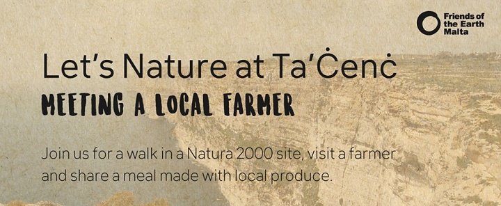 Let's Nature at Ta' Cenc with Friends of the Earth Malta next Sunday