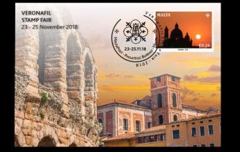 MaltaPost occasion card to mark the Verona stamp exhibition