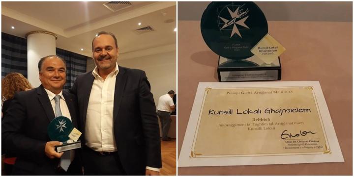 Premju Gieh l-Artigjanat Malti 2018 awarded to Ghajnsielem Council