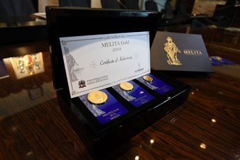 Three gold Melita bullion coins issued by CBM and Lombard Bank