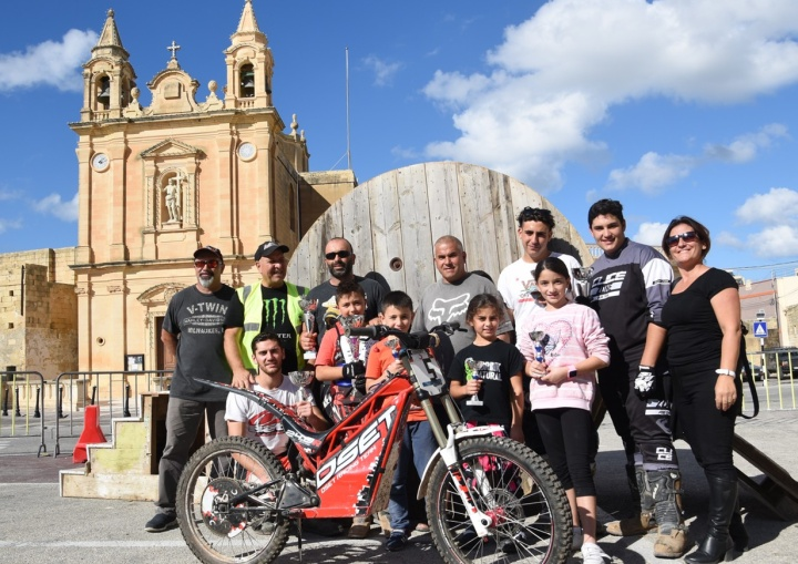 Adult and junior riders have fun in Munxar MotoTrials