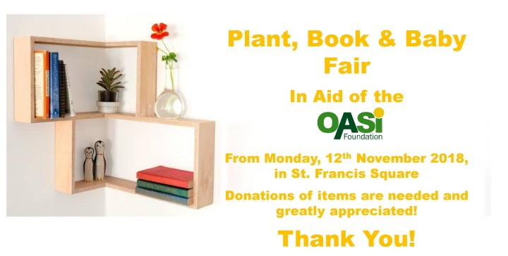 OASI Book, Plant and Baby Fair opens on Monday in Victoria