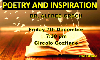 Gozo talk exploring the world of poetry with Dr Alfred Grech